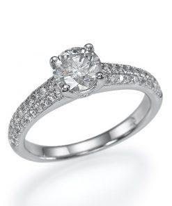 טבעת אירוסין, טבעת אירוסין מיוחדת, טבעתאירוסין זהב לבן, טבעת יהלום, הצעת נישואין, לויס תכשיטים, טבעת נישואין בורסה,