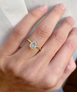 טבעת יהלום מלאני