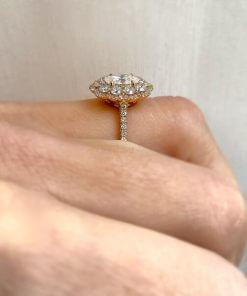 טבעת יהלומים טיירה